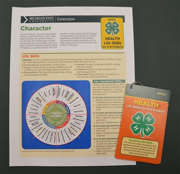 Life Skills for 4-H Projects - Health Pocket Cards and Sheets Set (4H1682)