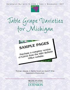Table Grape Varieties for Michigan (E2642)