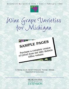 Wine Grape Varieties for Michigan (E2643)