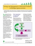 Ecology and Management of Weed Seed Predators in Michigan Agroecosystems (E2716)