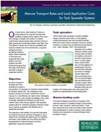 Manure Transport Rates and Land Application Costs Tank Spreader (E2767)