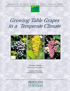 Growing Table Grapes in a Temperate Climate (E2774)