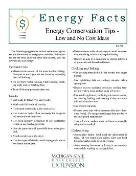 Home Maintenance and Improvements: Energy Conservation Tips (E2790)