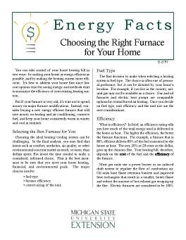 Home Maintenance and Improvements: Choosing the Right Furnace for your Home (E2797)