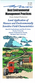 Land Application of Manure and Environmentally Sensitive Field Characteristics (E2821)