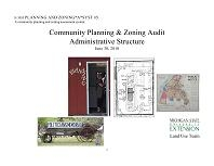 Planning and Zoning*A*Syst #5: Community Planning and Zoning Audit: Administrative Structure (E3055)