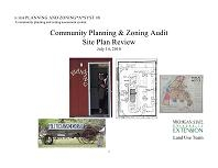 Planning and Zoning*A*Syst #8: Community Planning and Zoning Audit: Site Plan Review (E3058)