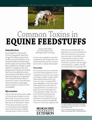 Common Toxins in Equine Feedstuffs (E3061)
