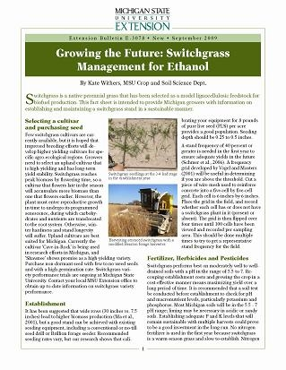 Growing the Future: Switchgrass Management for Ethanol (E3078)