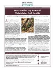 Sustainable Crop Removal: Maintaining Soil Quality (E3079)