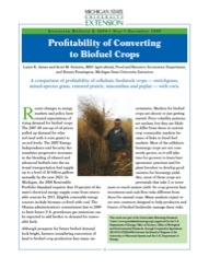 Profitability of Converting to Biofuel Crops (E3084)