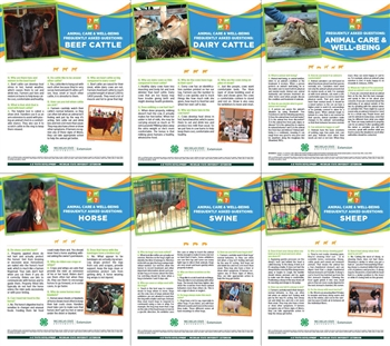4-H Animal Care and Well-Being Poster Kit (E3279)