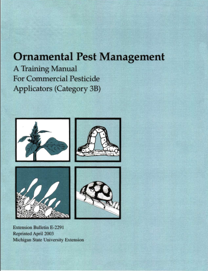 Ornamental Pest Management: Commercial Applicator Training Manual - Category 3B (E2291)