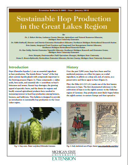 Sustainable Hops Production in the Great Lakes Region (E3083)