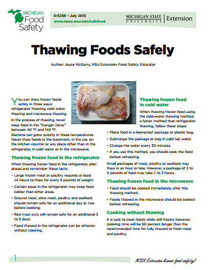 Thawing Foods Safely (E3259)