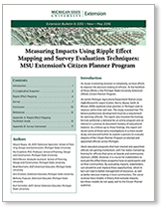 Measuring Impacts Using Ripple Effect Mapping and Survey Evaluation Techniques (E3312)