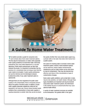 A Guide to Home Water Treatment bulletin (E3342)