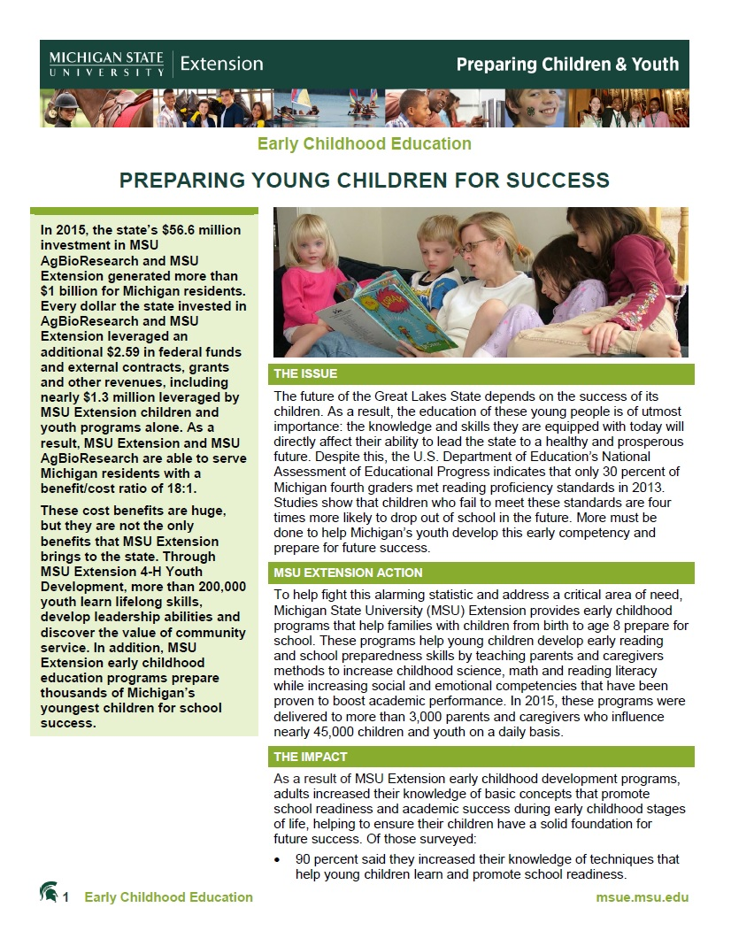 Preparing Young Children for Success