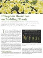 Ethephon drenches on bedding plants