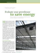 Evaluate your greenhouse to save energy