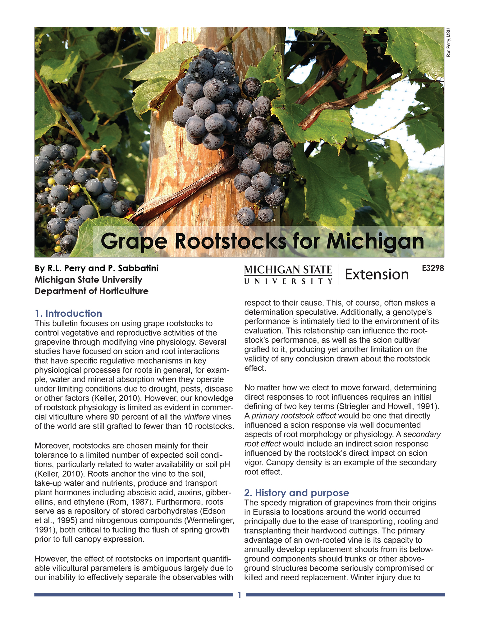 Grape Rootstocks for Michigan (E3298)