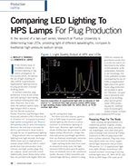 Comparing LED Lighting To HPS Lamps For Plug Production