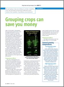Grouping crops can save you money