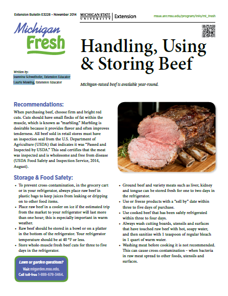 Handling, Using, and Storing Beef (E3228)