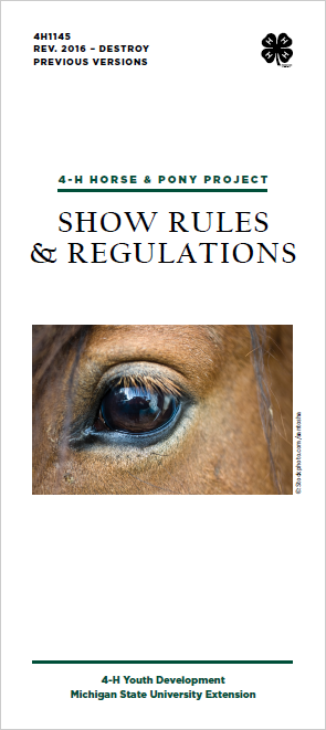 Michigan 4-H Horse & Pony Project Show Rules & Regulations