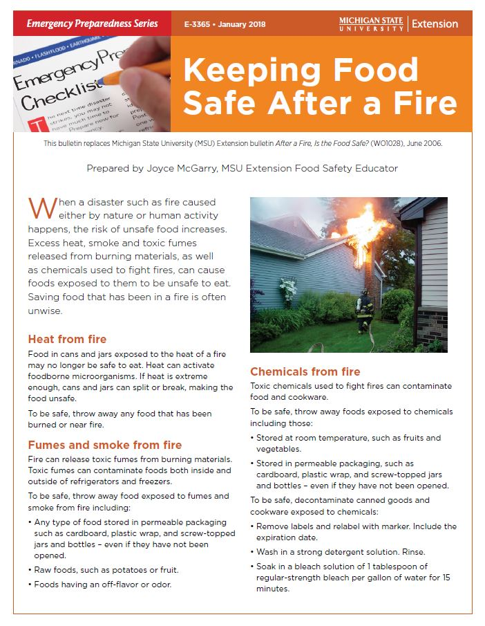 Keeping Food Safe After a Fire (E3365)