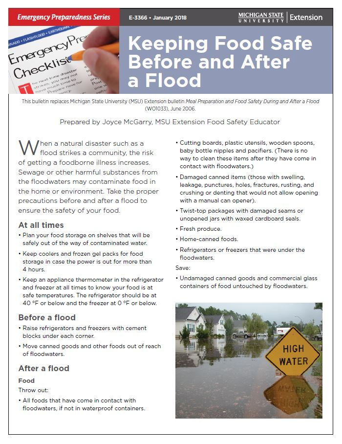 Keeping Food Safe Before and After a Flood (E3366)