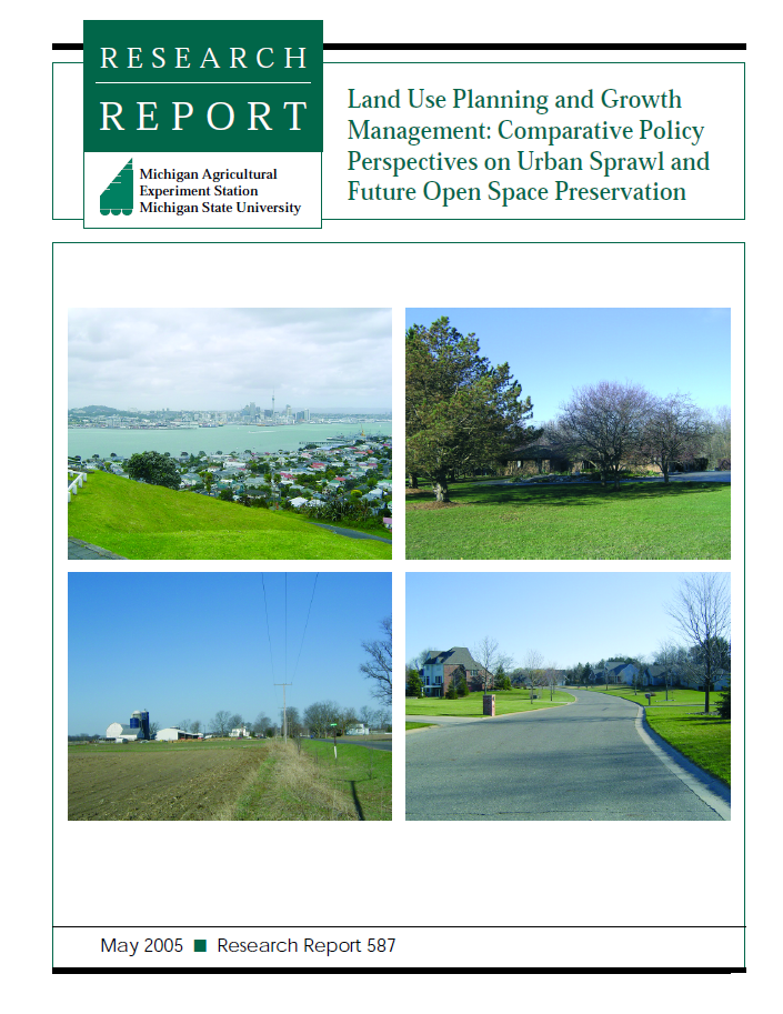 Land Use Planning and Growth Management: Comparative Policy Perspectives on Urban Sprawl