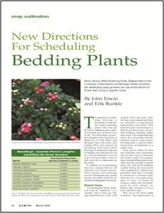 New directions for scheduling bedding plants