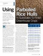 Using Parboiled Rice Hulls In Substrates To Finish Greenhouse Crops