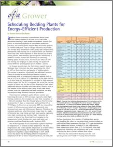 Scheduling bedding plants for energy-efficient production