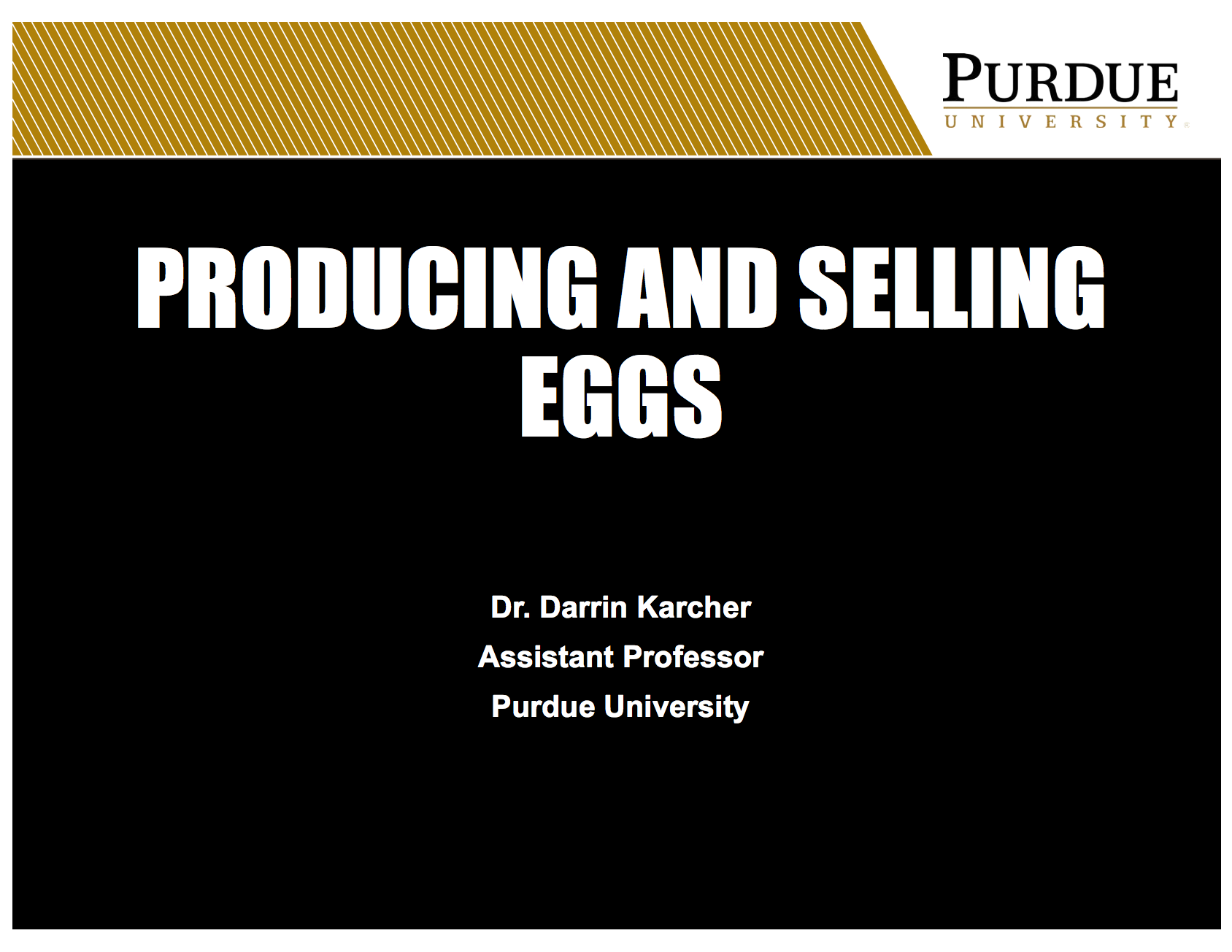 Producing and selling eggs