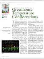 Greenhouse temperature considerations