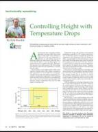 Controlling height with temperature drops