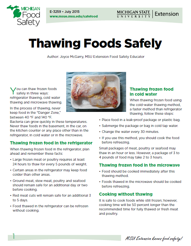 Thawing Foods Safely