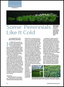 Some perennials like it cold (Vernalization part 1)