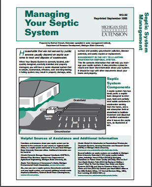 Managing Your Septic System (WQ39)