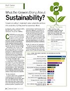What are growers doing about sustainability?