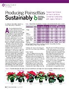 Producing poinsettias sustainably.