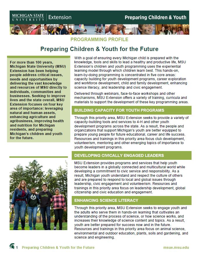 Children and Youth Programming: Preparing Children & Youth for the Future