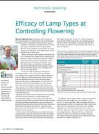 Efficacy of lamp types at controlling flowering