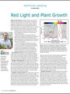 Red light and plant growth