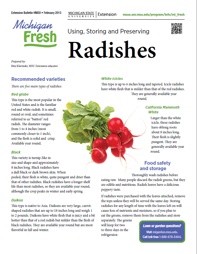Michigan Fresh: Radishes (HNI50)