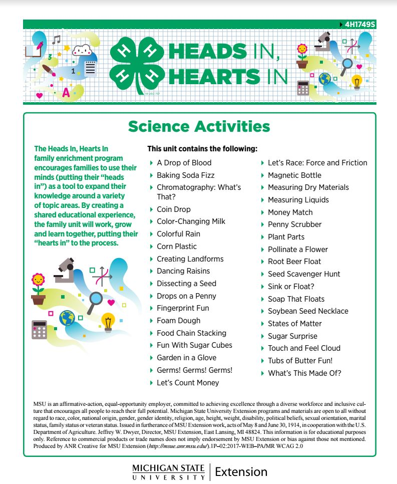 Heads In, Hearts In: A Delivery Approach to Family Enrichment Programming – Science Activities