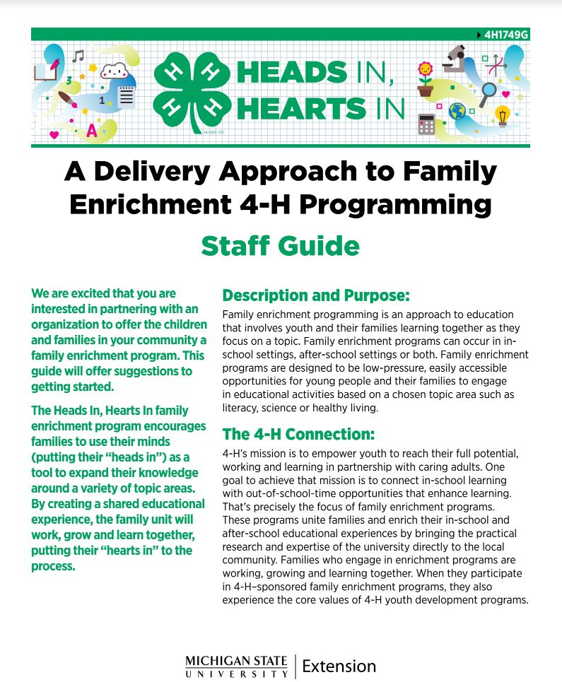 Heads In, Hearts In: A Delivery Approach to Family Enrichment Programming – Staff Guide
