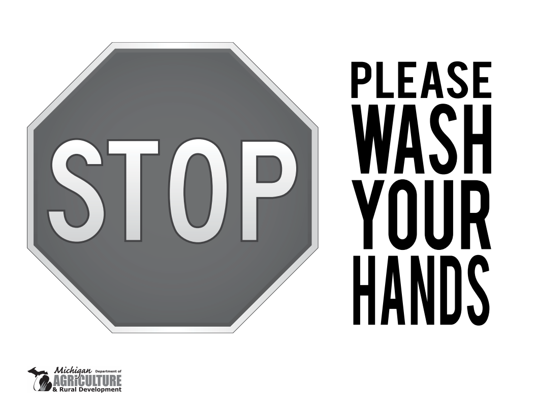 SIGN - Stop: Please Wash Your Hands